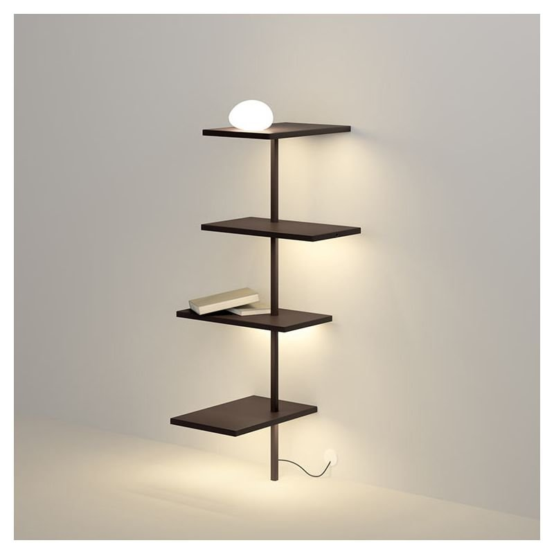 suite tag re murale lumineuse led 4 tablettes vibia. Black Bedroom Furniture Sets. Home Design Ideas