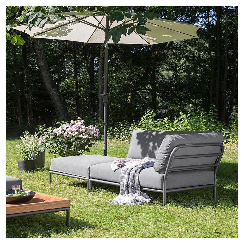 level pouf d 39 ext rieur rembourr houe aluminium tissu. Black Bedroom Furniture Sets. Home Design Ideas