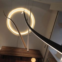 Suspension LEDs 2 vagues WARP Henri Bursztyn