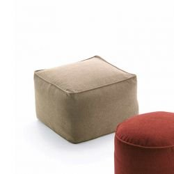 Pouf cube en tissu in & outdoor MOON Fast