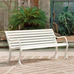Banc de jardin OASI Fast en aluminium blanc