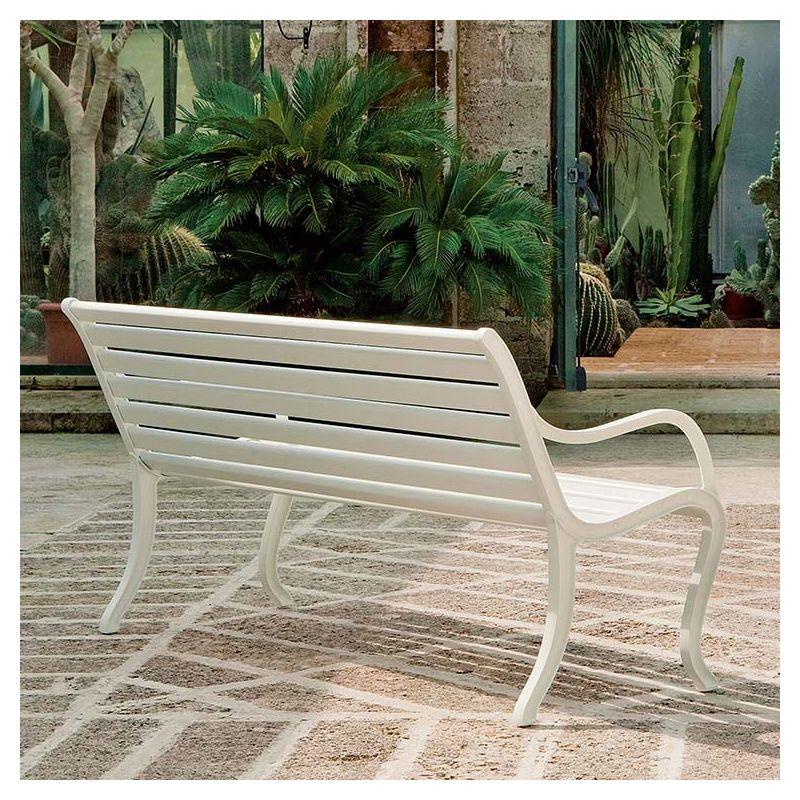 Oasi, banc jardin aluminium Fast usage professionnel