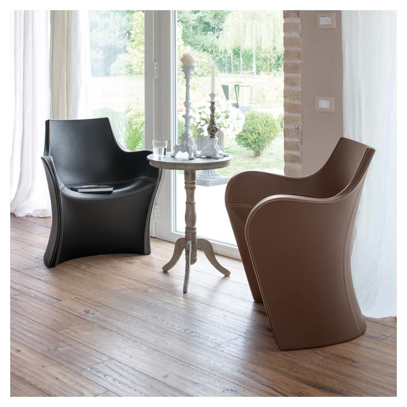 woopy petit fauteuil design cuir simili cuir b line. Black Bedroom Furniture Sets. Home Design Ideas