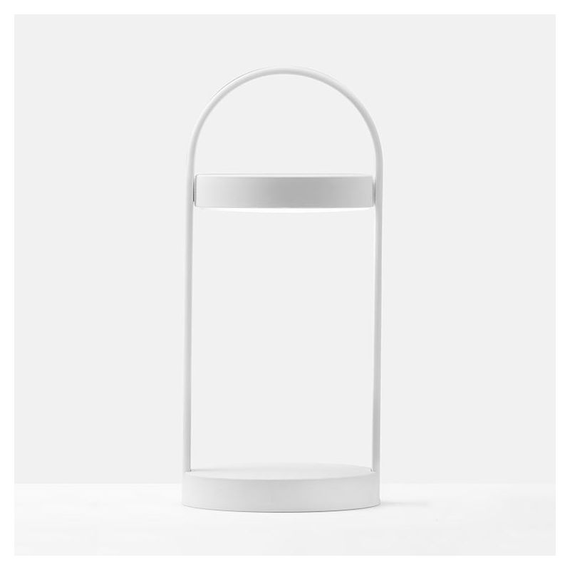 Lampe LED sans fil GIRAVOLTA h 33 Pedrali coloris blanc