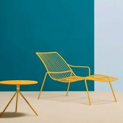 Chaise longue jaune NOLITA Pedrali