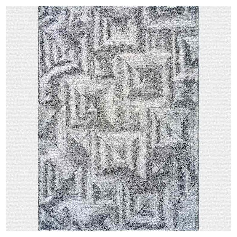 dam tapis en laine toulemonde bochart gris argent. Black Bedroom Furniture Sets. Home Design Ideas