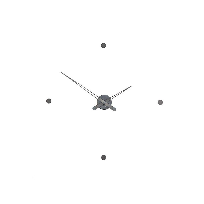 Horloge design RODON T graphite Nomon, 4 repères horaire