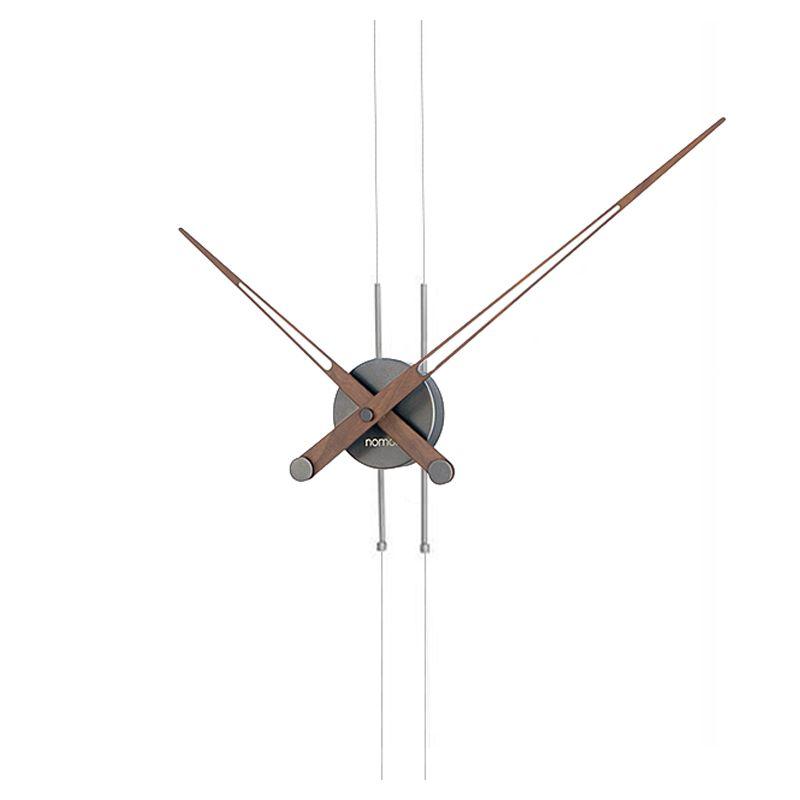 Pendulo t pendule design nomon horloge acier graphite for Horloge murale contemporaine design