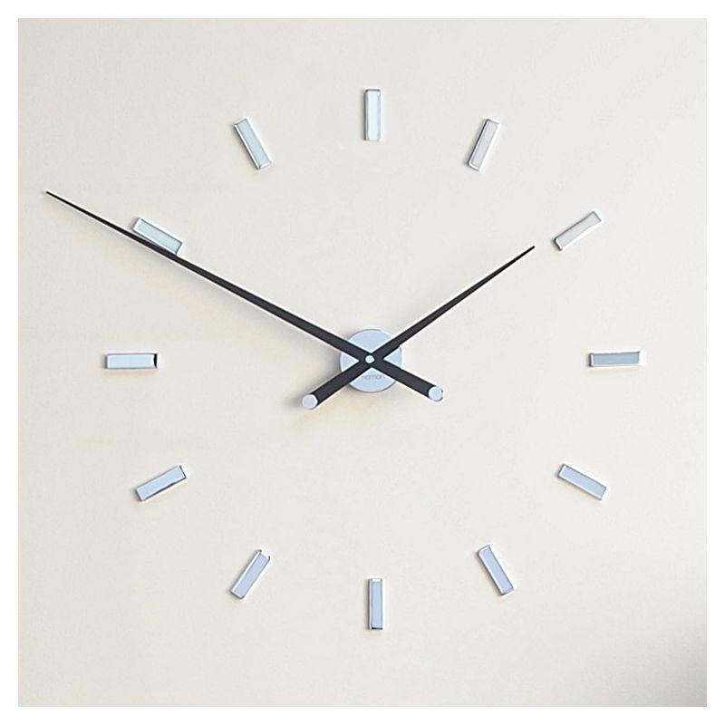 Tacon l grande horloge nomon 100 acier noyer for Horloge murale contemporaine design