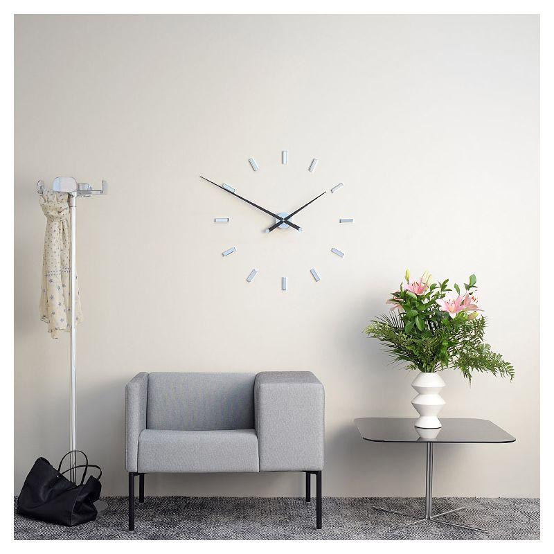 Tacon l grande horloge nomon 100 acier noyer - Horloge murale contemporaine design ...