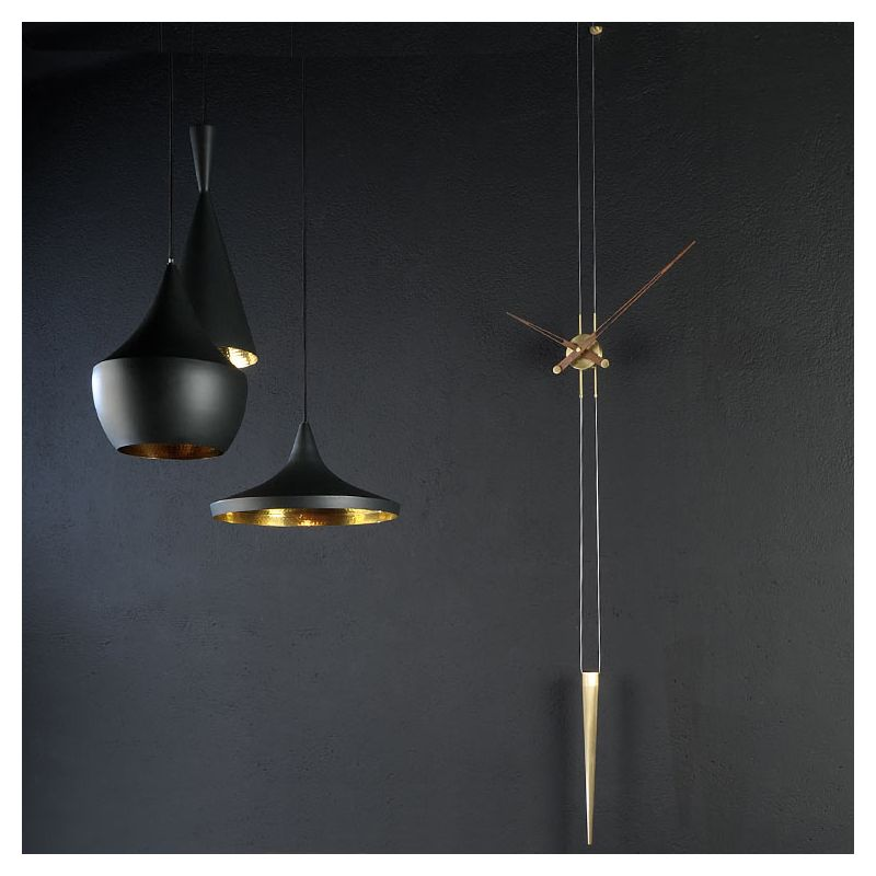 pendulo g pendule design nomon horloge bois laiton. Black Bedroom Furniture Sets. Home Design Ideas
