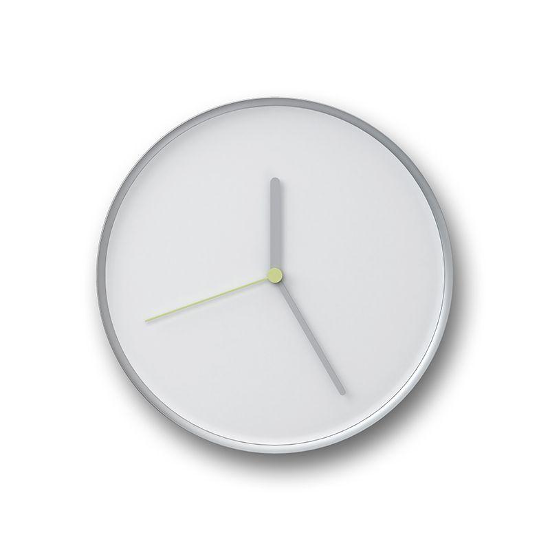 Horloge murale THIN Teo, blanc-aluminium