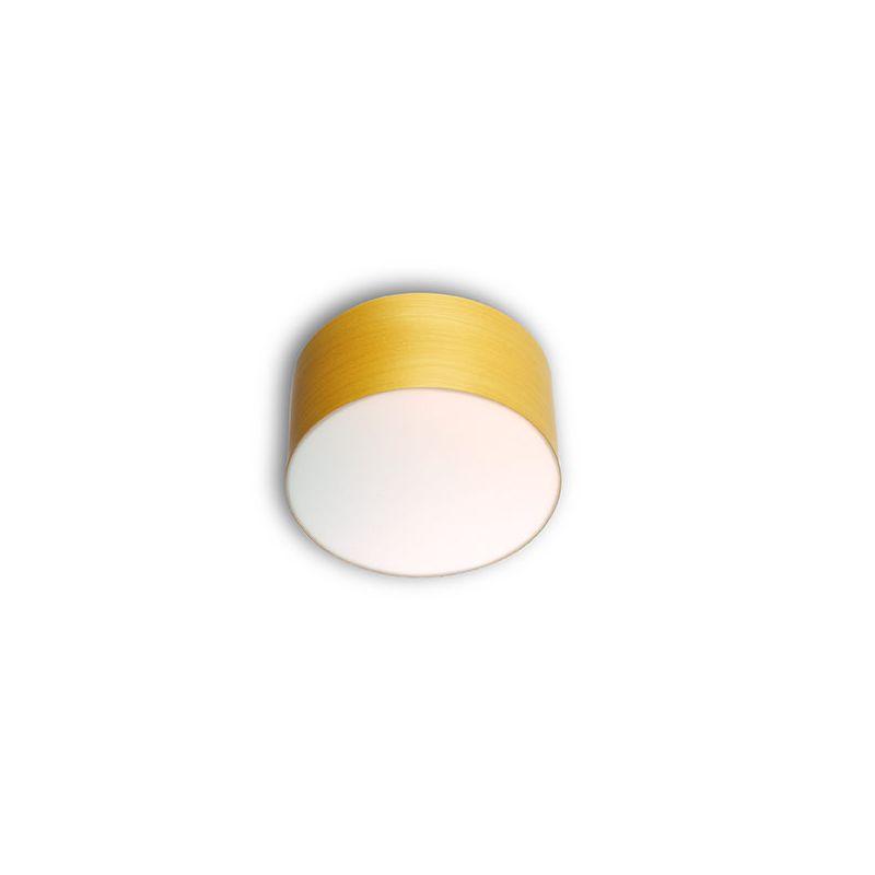 Plafonnier LED small GEA LZF, hêtre jaune