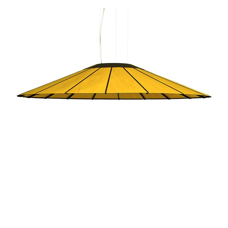 Suspension LED BANGA SG Large LZF, hêtre jaune