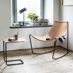 Rocking-chair cuir APELLE DN Midj