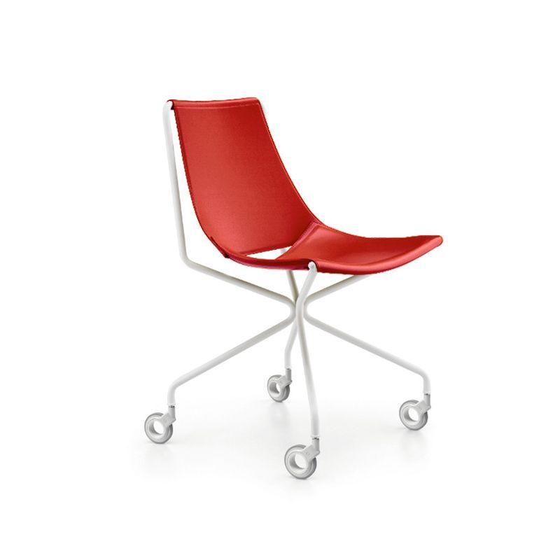Chaise à roulettes APELLE D Midj, rouge U42