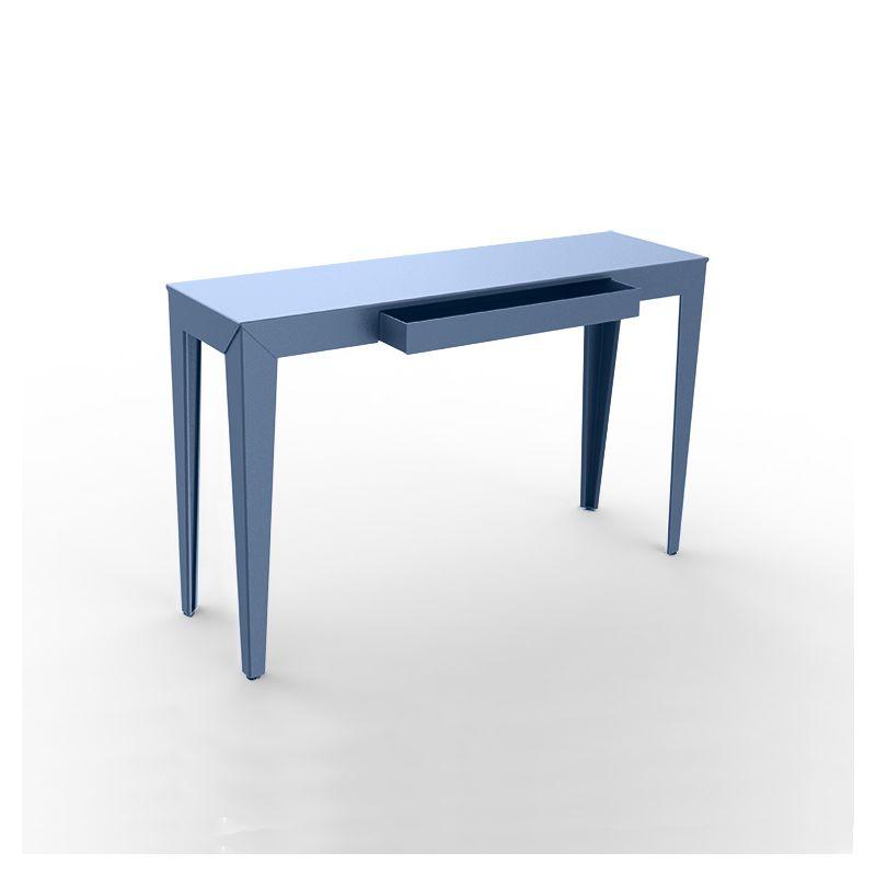 Console à tiroir ZEF Matière Grise, bleu pigeon