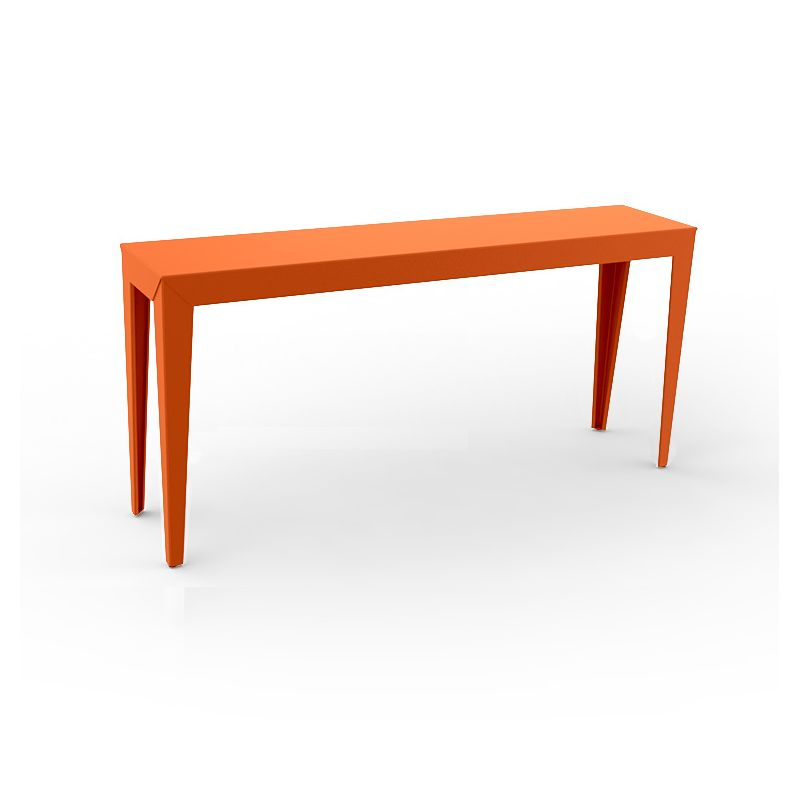Console ZEF 160 cm alu Matière Grise, orange
