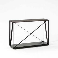 Console BEAM noire 100 cm Kendo, finition chêne toasté