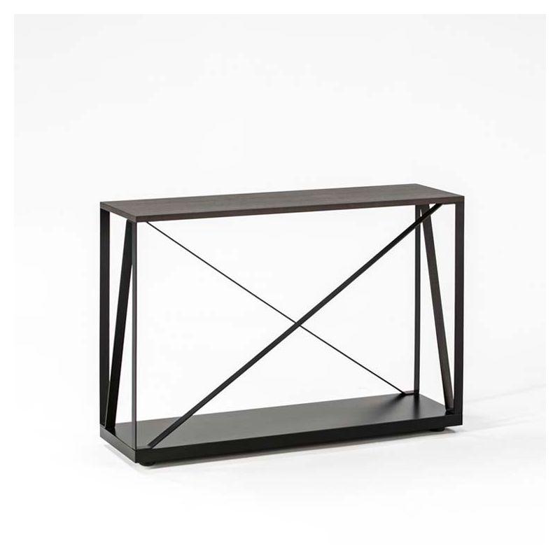 beam 03 console m tal 100 cm kendo dessus bois laqu. Black Bedroom Furniture Sets. Home Design Ideas