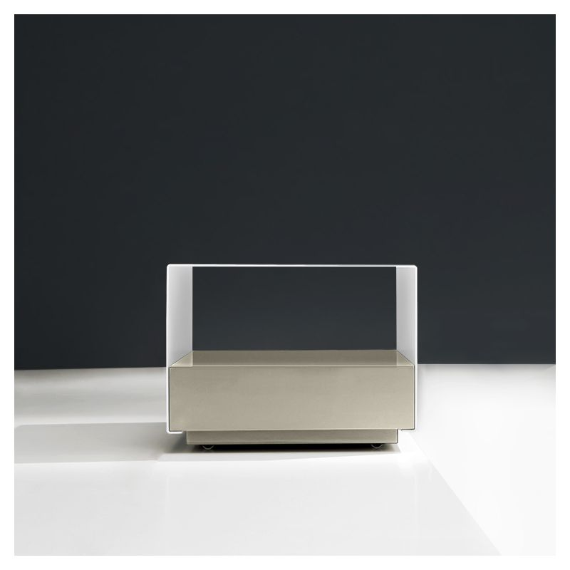 Module table basse blanche KOBO Kendo, tiroir sable