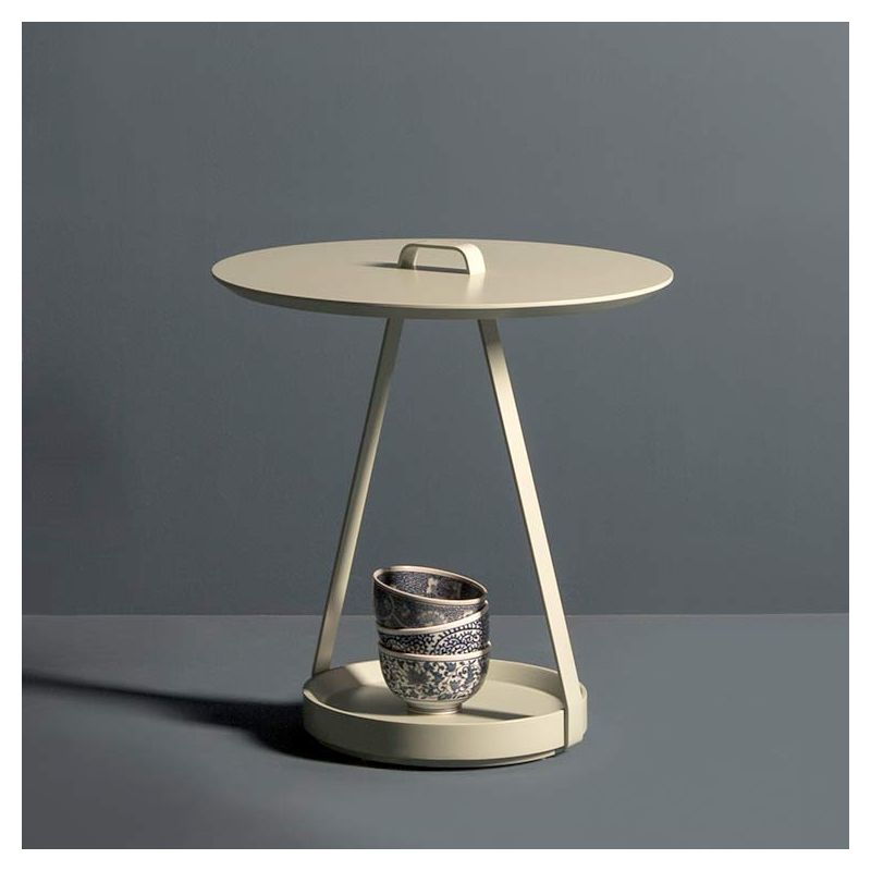 Table d'appoint ronde ZOE Kendo sable