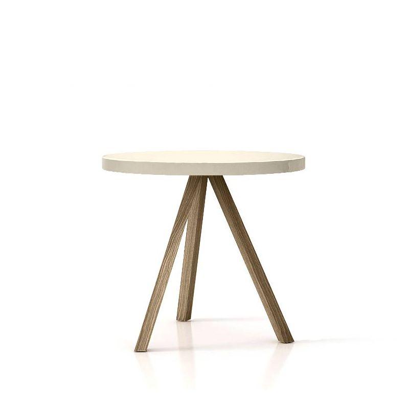 Flak table repas ronde punt bois massif design n yong for Table repas ronde