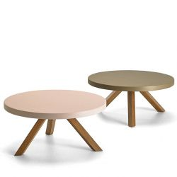 Tables basses FLAK Punt rose et bronze