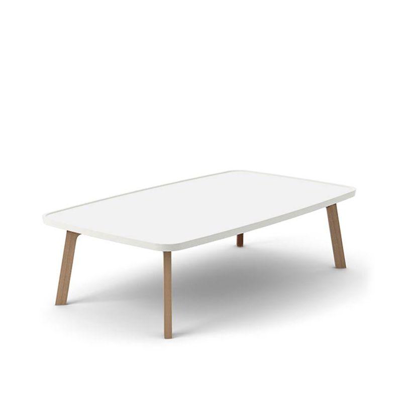 Table Basse Rectangulaire Blanche.Breda Table Basse Design Rectangulaire Punt Bois Massif