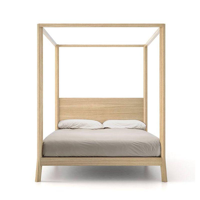 Breda lit baldaquin 160x200 punt design bois massif - Chambre lit baldaquin ...
