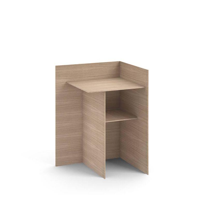 Cuatro Table Chevet Punt Bois Ou Laque Design N Yong