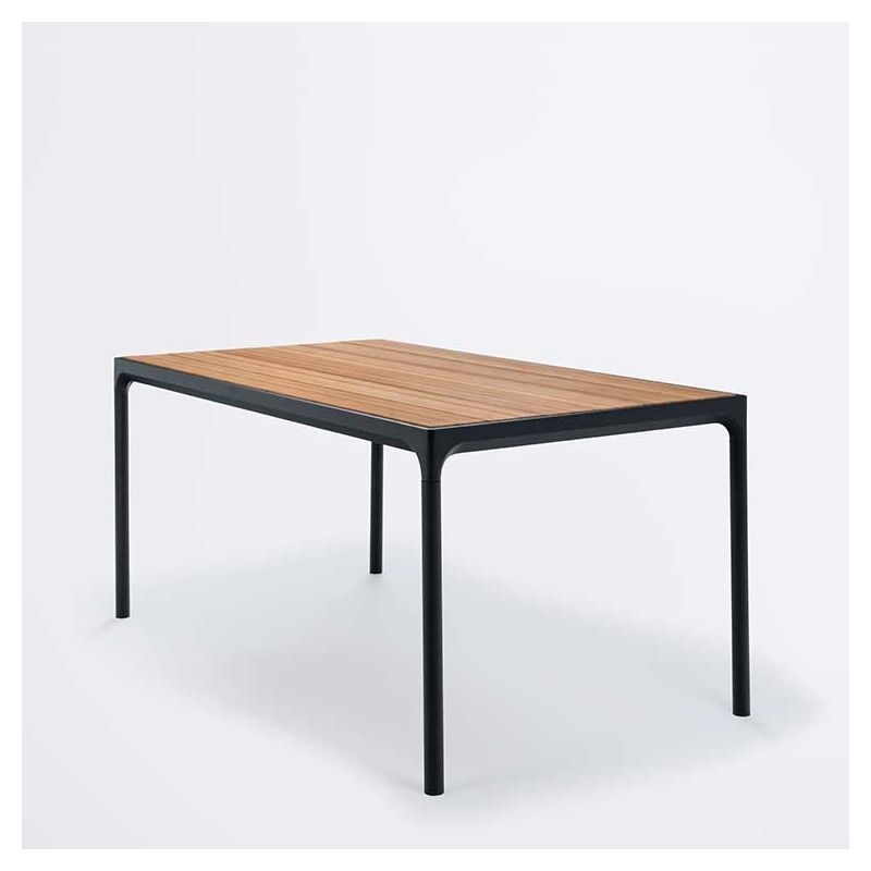 Table rectangulaire bambou & alu FOUR Houe