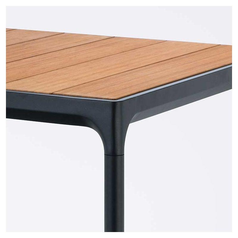 four mange debout ext rieur houe carr en bambou alu. Black Bedroom Furniture Sets. Home Design Ideas
