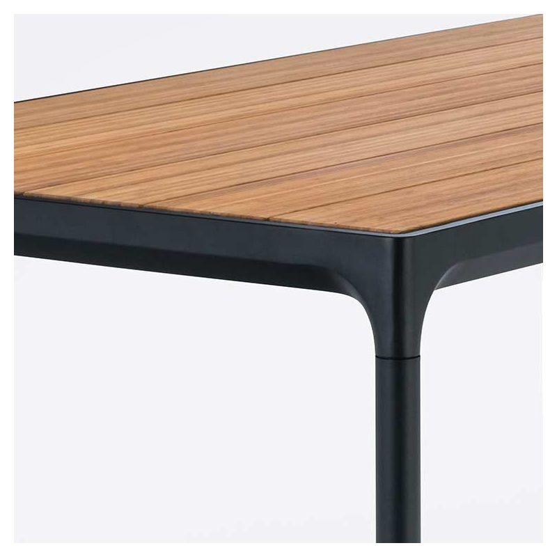 Four, table haute jardin Houe 160 x 90 en bambou & alu
