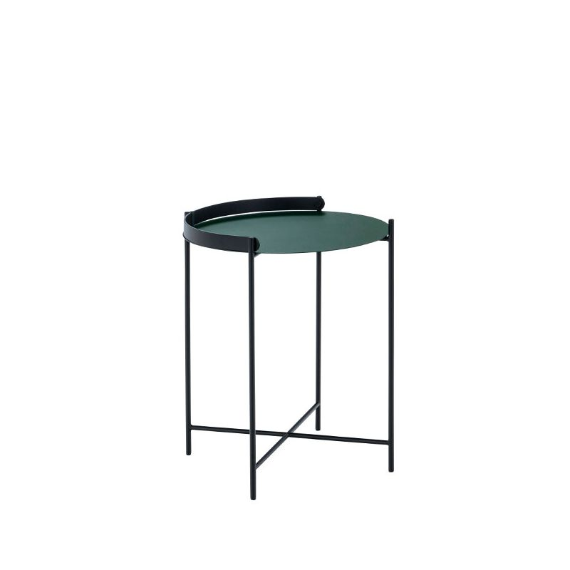 Table d'appoint ronde Ø 46 cm EDGE Houe, coloris vert pin