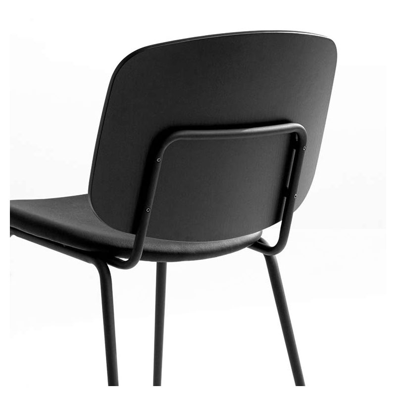 grapp chaise de cuisine design houe cuir et bois. Black Bedroom Furniture Sets. Home Design Ideas