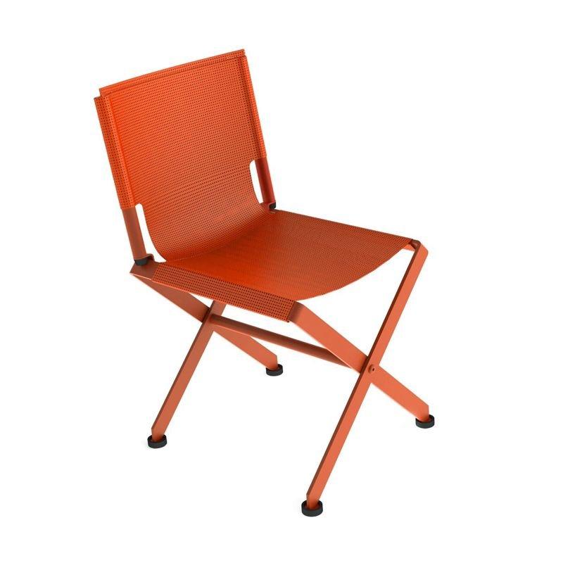 chaise de jardin m tal zephir mati re grise. Black Bedroom Furniture Sets. Home Design Ideas