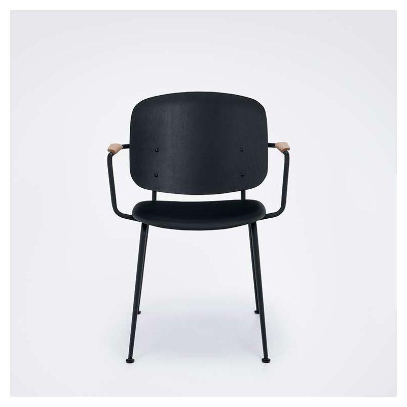 Grapp, fauteuil cuir et bois Houe design nordique # Fauteuil Cuir Bois