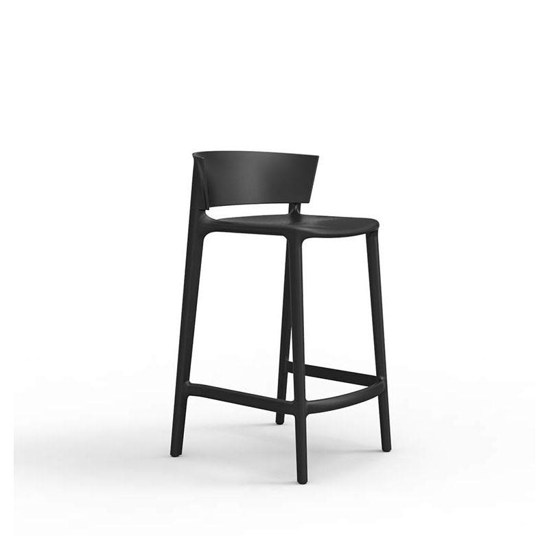 Chaise de bar noire AFRICA Vondom, hauteur d'assise 65 cm