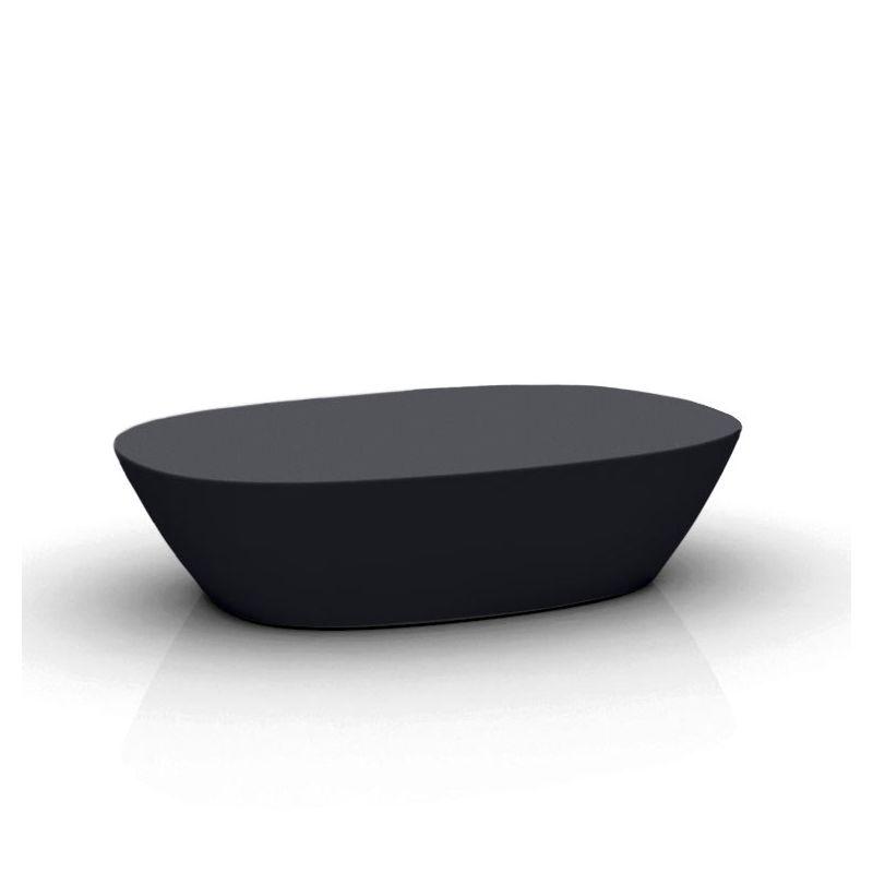 Table basse de jardin noire SABINAS Vondom