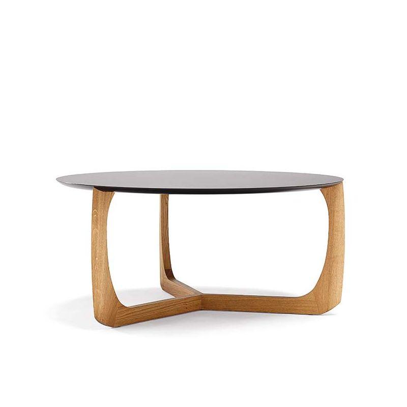 Table basse chêne huilé et plateau HPL noir LILI Møbel Copenhagen