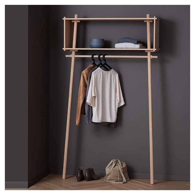 Töjbox, rangement penderie Woud portant design en bois