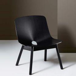 Fauteuil lounge chêne teinté noir MONO Woud