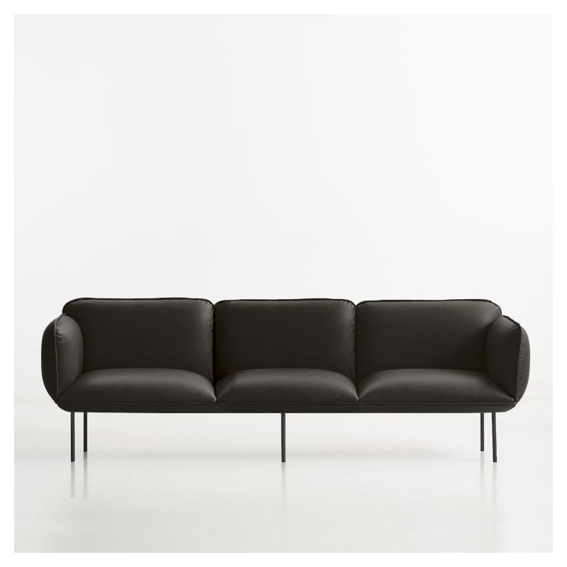 canap nakki 3 places woud cuir design m tolvanen. Black Bedroom Furniture Sets. Home Design Ideas