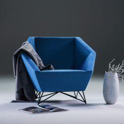 Fauteuil 3ANGLE Prostoria, tissu bleu 791 Divina 3