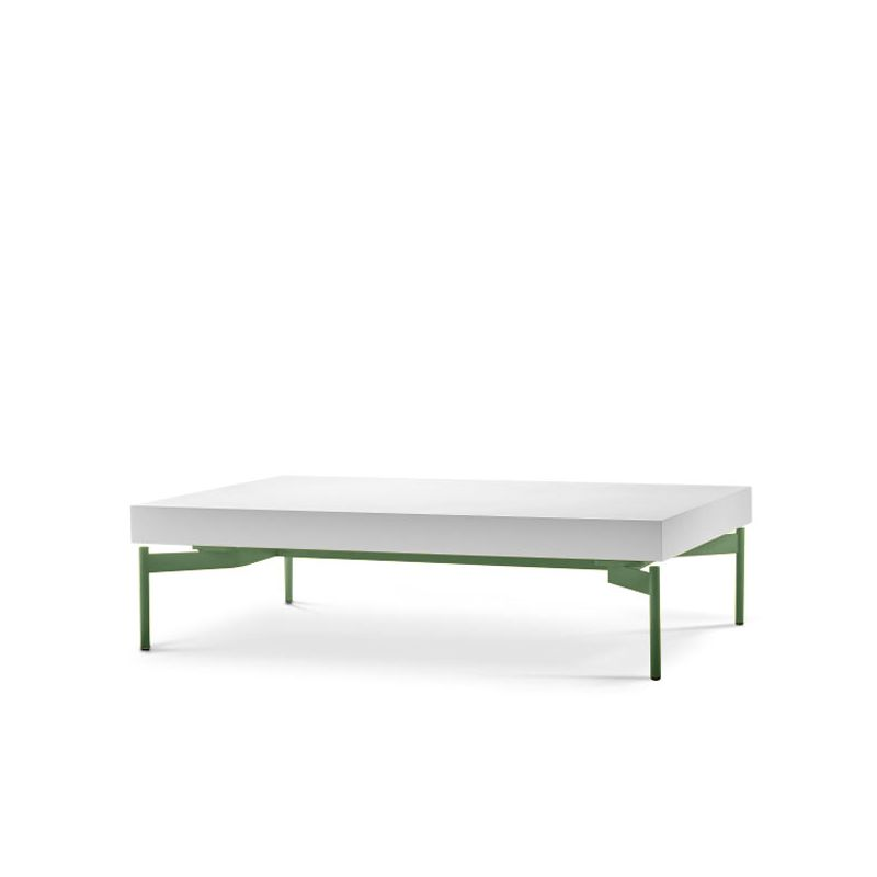 Table basse rectangulaire SEGMENT Prostoria, coloris vert