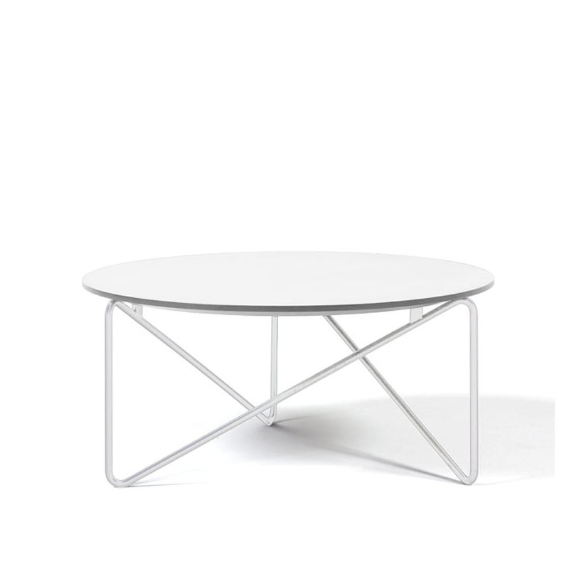 Table Basse Metal Blanc.Table Basse Plateau Fenix Polygon Prostoria