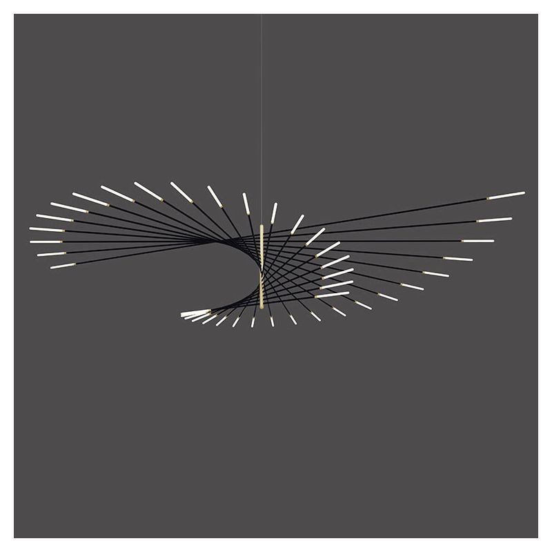 Suspension LEDs M101 design Henri Bursztyn, finition noir
