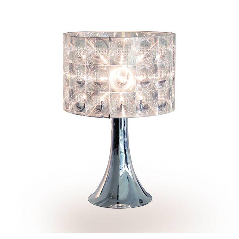 Lampe de table LIGHTHOUSE Innermost avec pied TRUMPET 50 chromé