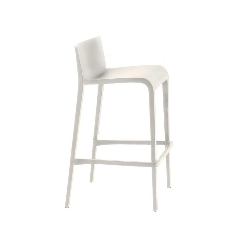 Chaise de bar blanche NASSAU 537 Metalmobil, hauteur d'assise 76 cm